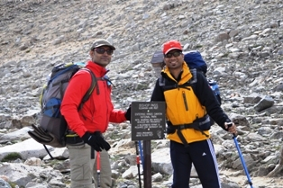 Ashwin & Nalin at Bishop Pass